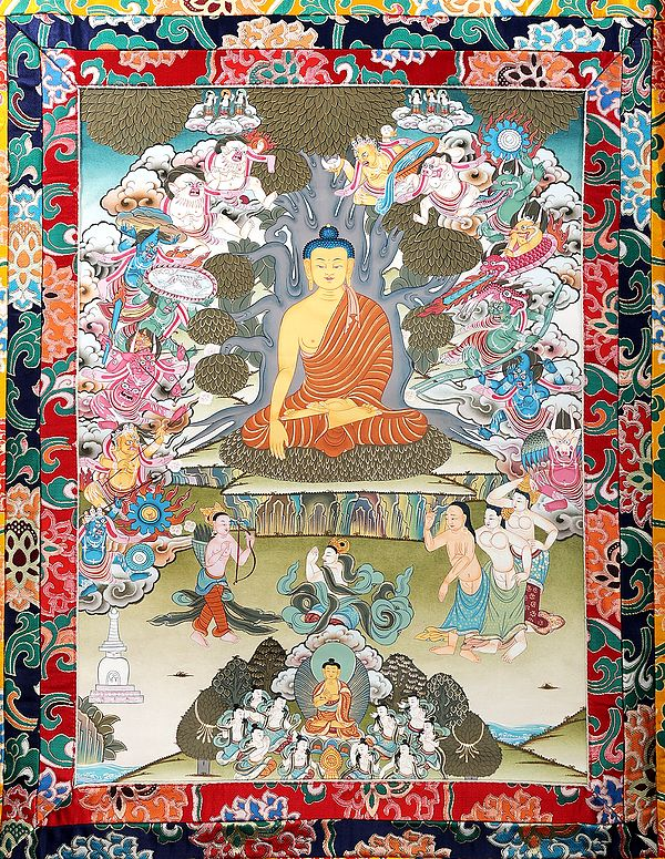 Temptation of Buddha by Mara (Tibetan Buddhist)