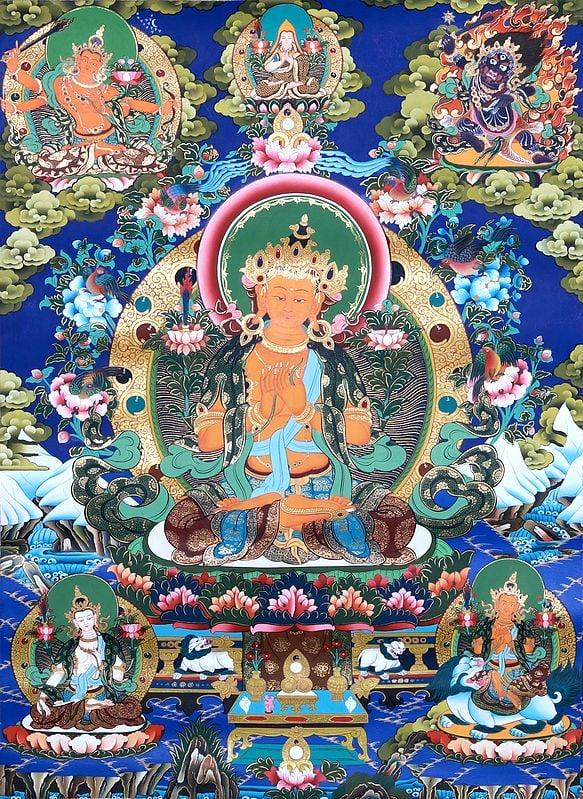 The Crimson Halo Of The Bodhisattva Manjushri