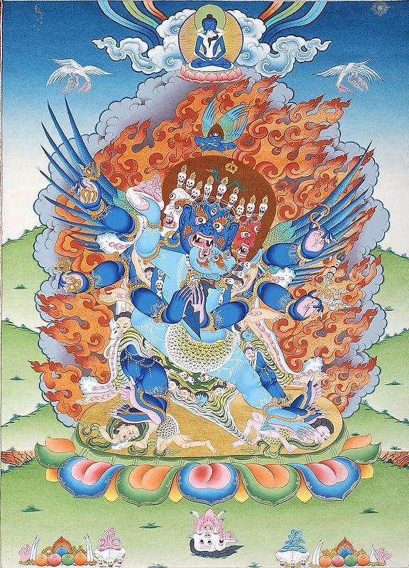 Chemchok Heruka with Consort - Tibetan Buddhist