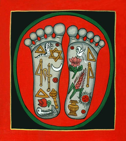 The lotus Footprints of Lord Krishna