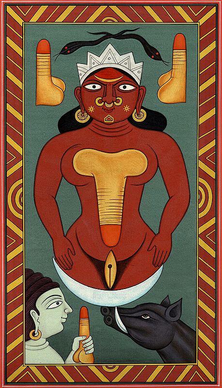 Esoteric Form of Varaha and Bhudevi  (Kundalini Series)
