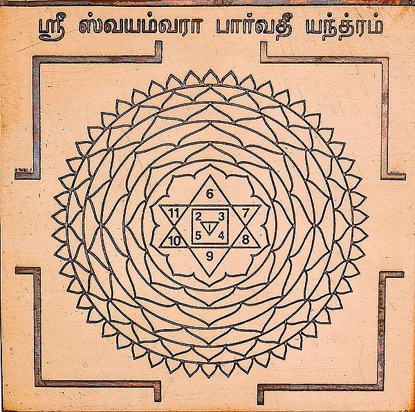 ஸ்ரீ ஸ்வயம்வரா பார்வதி யந்தாம்: Swayamvara Parvati Yantra (Tamil)