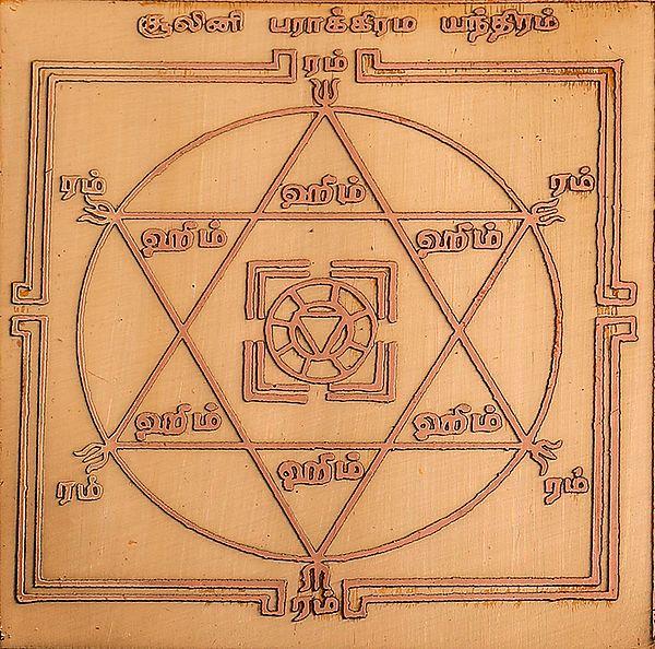 சூலினி பாக்கிரம்: Shoolini Durga Yantra (Tamil)