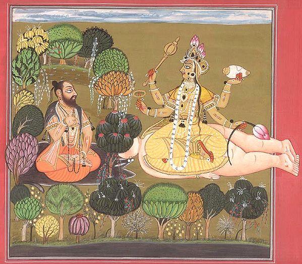 The Goddess Worshipped by Rishi Chyavana