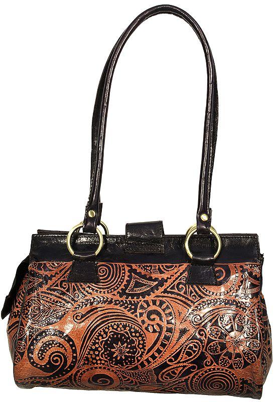 Shantiniketan Shopper Bag with Florals and Paisleys