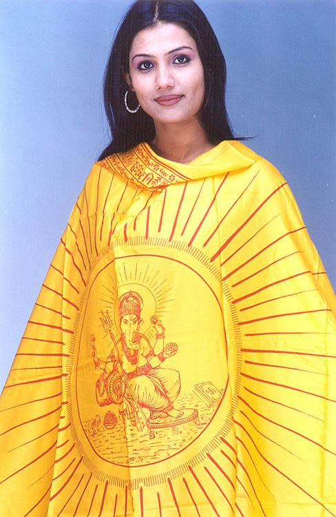 Lord Ganesha Hindu Prayer Shawl