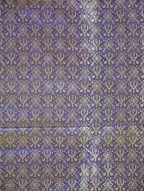 Purple Banarasi Brocade with Golden Thread Weave