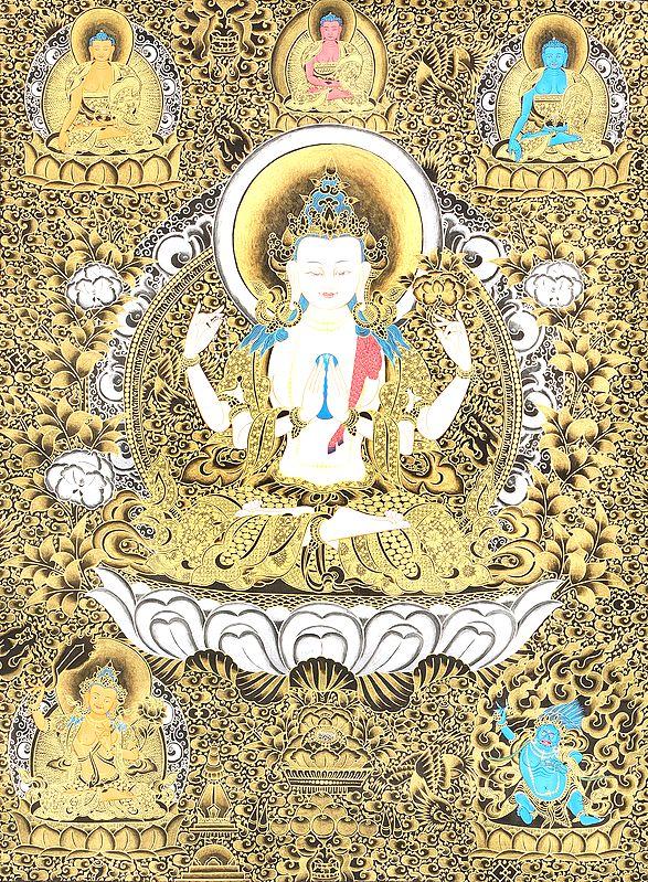 Large Sized Chenrezig (Four-Armed Avalokiteshvara)