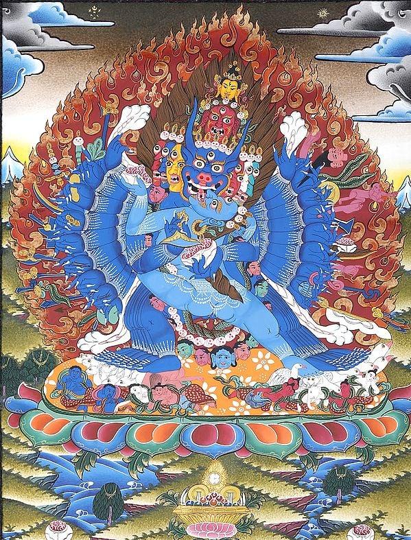 Yamantaka in Yab Yum - Tibetan Buddhist