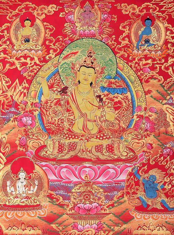 Manjushri - Tibetan Buddhist Deity Upholder of the Double-Edged Sword