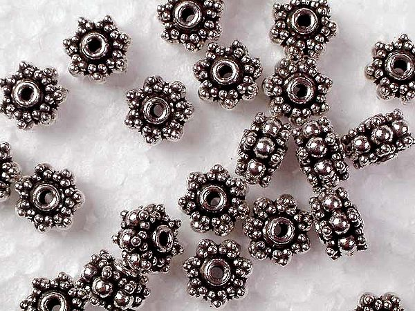Three-Layer Floral Chakra Beads